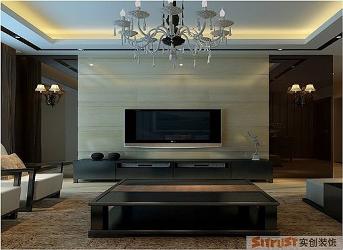 客厅图片来自多芬宝贝在7.9万装混搭风格-120平三居室的分享