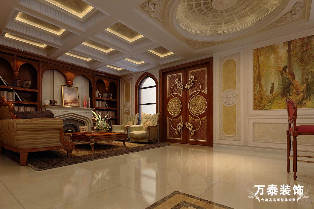 客厅图片来自潍坊万泰装饰在临朐揽翠湖新古典别墅的分享