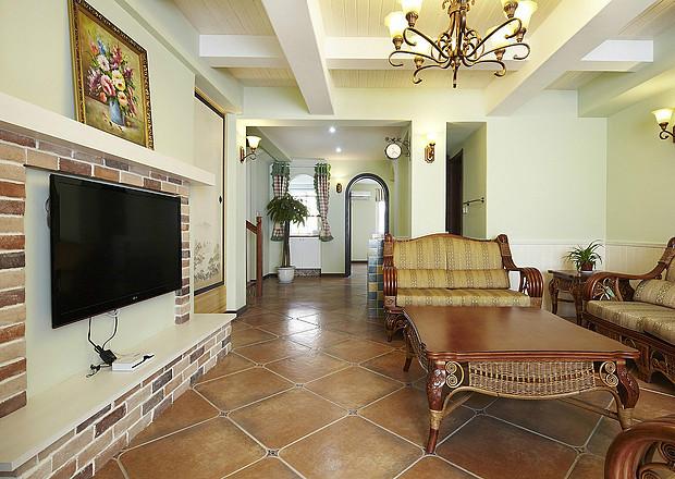 田园 美式 实创装饰 三居 复式 收纳 客厅图片来自武汉实创装饰在打造上城明珠美式田园的分享