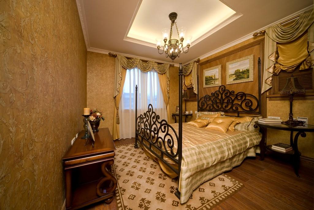 美式 别墅 舒适 大气 奢华 卧室图片来自武汉实创装饰在玉龙岛美式乡村别墅的分享