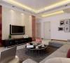 从另一个角度观察房间布局,电视背景墙的设计,利用吊顶划分空间功能区设计。
