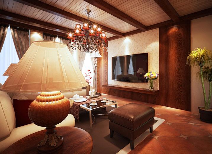 三居 混搭 简约 客厅图片来自北京实创装饰在融泽嘉园108平米三居的分享