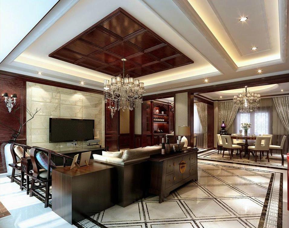 武汉实创 东湖国际 中式 四居 别墅 客厅图片来自静夜思在复地东湖国际传统时尚并存中式风的分享