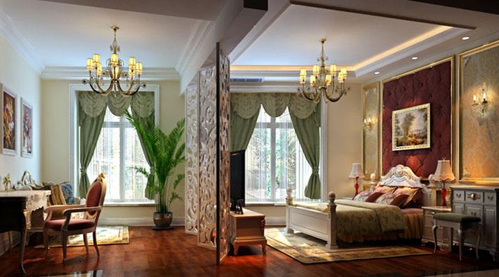 欧式 田园 混搭 二居 别墅 旧房改造 客厅图片来自北京实创装饰在旭辉御府240平米欧式四居的分享