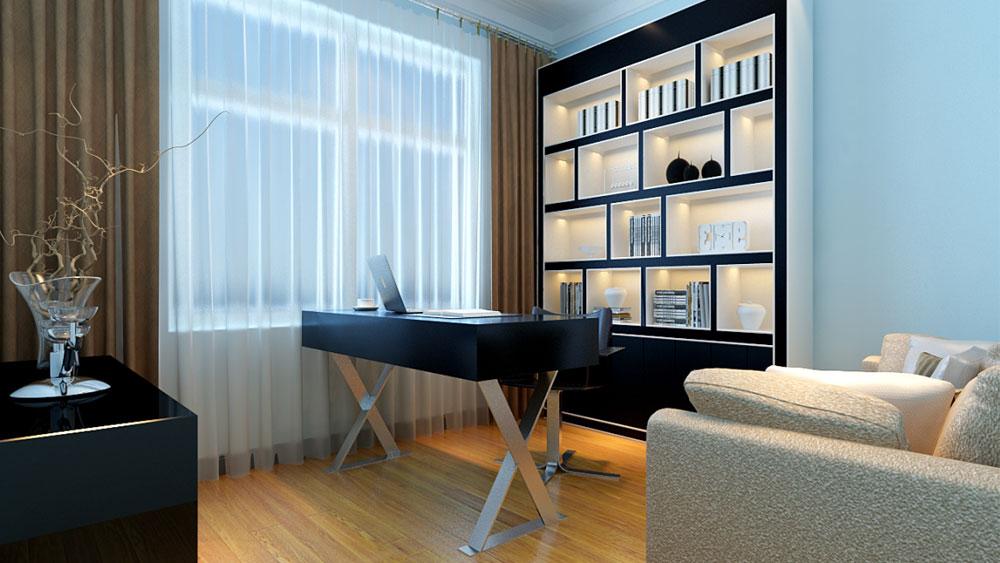 二居 简约 书房图片来自用户524527896在红木林C5户型的分享