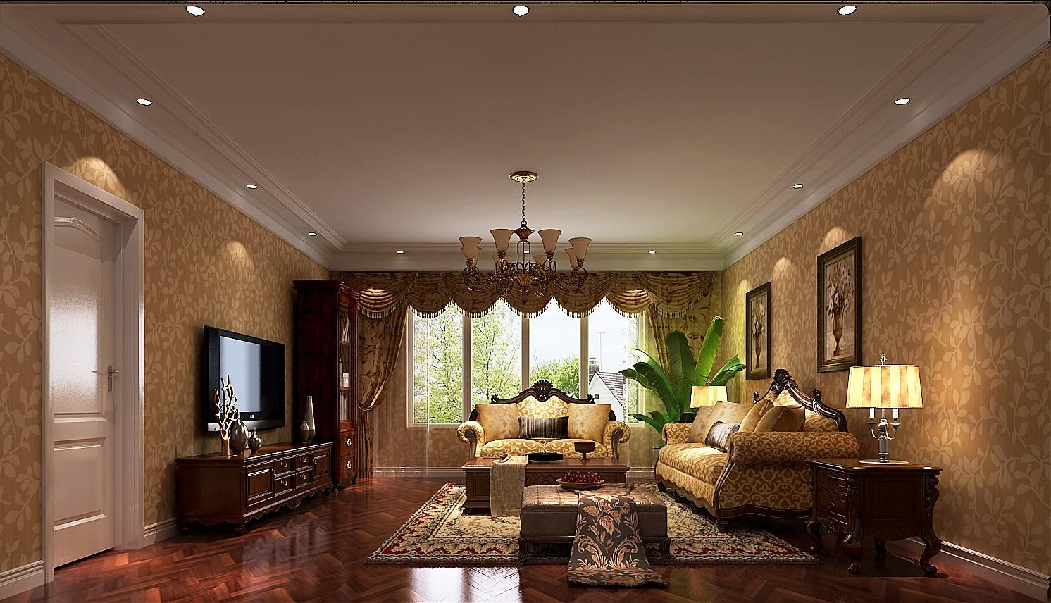 简约 美式 二居 三居 别墅 白领 收纳 旧房改造 80后 客厅图片来自周楠在颇具时尚的美式的分享