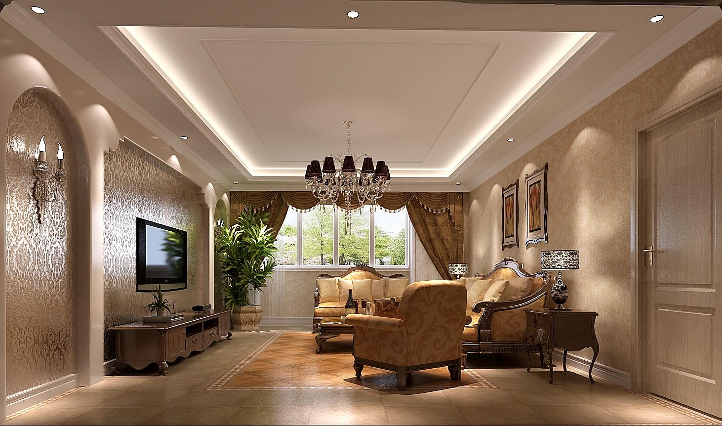 美式 二居 三居 别墅 白领 收纳 旧房改造 80后 小资 客厅图片来自周楠在大气典雅美式的分享