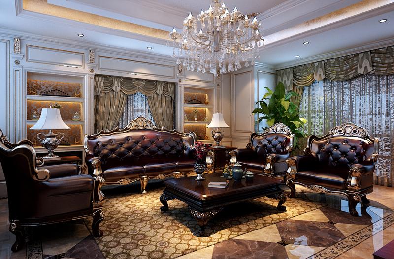 客厅图片来自潍坊万泰装饰在新古典的奢华享受 360平独栋别墅的分享
