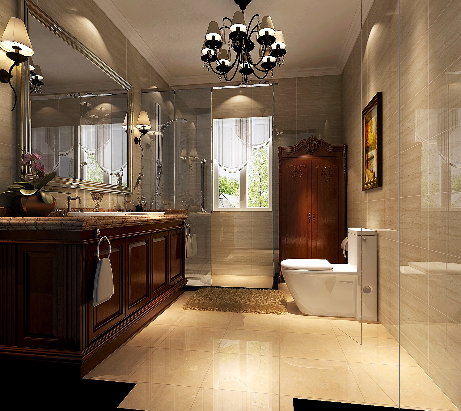 简约 美式 二居 三居 别墅 白领 收纳 旧房改造 80后 卫生间图片来自周楠在颇具时尚的美式的分享