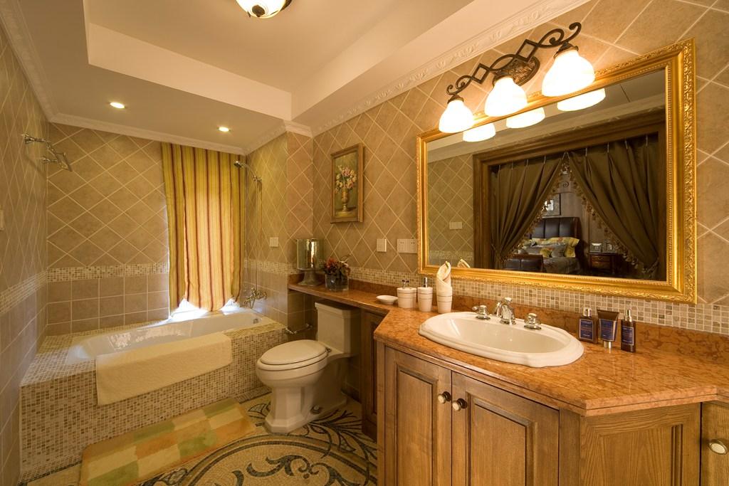 美式 别墅 舒适 大气 奢华 卫生间图片来自武汉实创装饰在玉龙岛美式乡村别墅的分享
