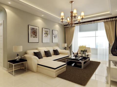 简约 二居 白领 80后 小资 客厅图片来自沈阳林凤装饰装修公司在中海明珠91㎡现代简约的分享