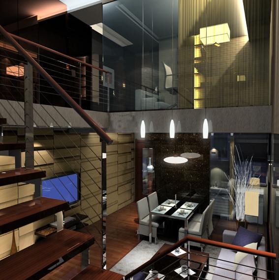 简约 混搭 二居 白领 收纳 80后 楼梯图片来自武汉实创装饰在东丽国际展现绚丽现代的分享