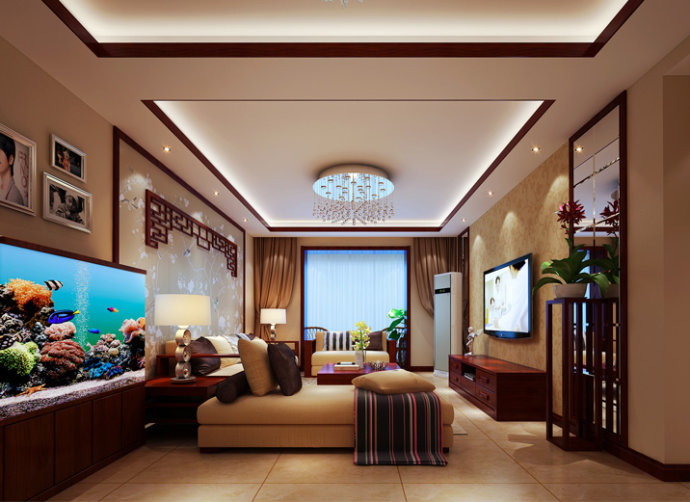 武汉实创 锦绣长江 中式 三居 小资 客厅图片来自静夜思在世茂锦绣长江简约中式的分享