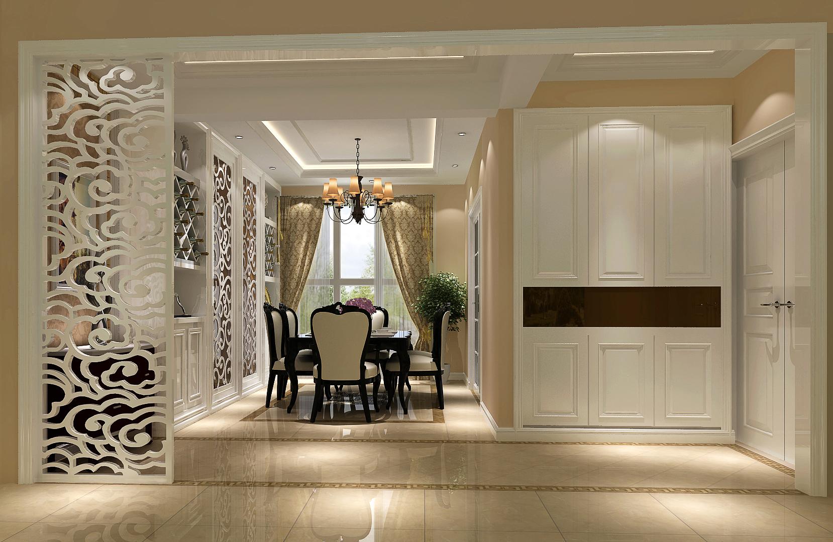 简约 欧式 二居 三居 别墅 白领 收纳 旧房改造 80后 餐厅图片来自周楠在简约大方欧式的分享