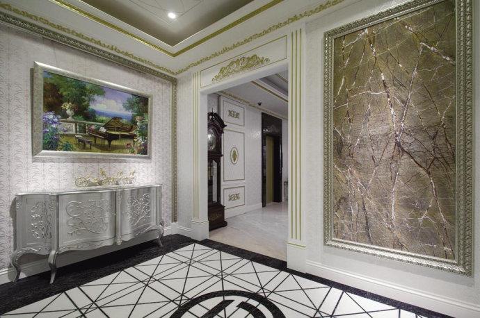 欧式 别墅 复式 收纳 高雅 玄关图片来自武汉实创装饰在220平米简欧装修,展现品质生活的分享