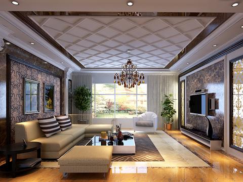 欧式 别墅 80后 白领 客厅图片来自沈阳林凤装饰装修公司在远洋岦宫236㎡现代欧式的分享