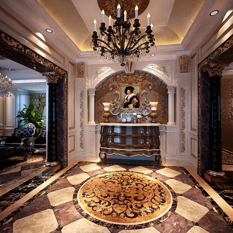 玄关图片来自潍坊万泰装饰在新古典的奢华享受 360平独栋别墅的分享