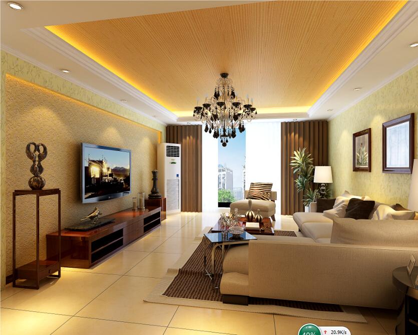 客厅图片来自轻舟装饰-90后的华仔在红木林-109平米-现代风格的分享