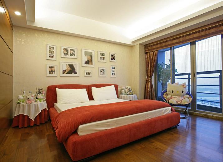 简约 三居 新中式风格 旧房改造 80后 小资 卧室图片来自北京实创装饰在玉泉新城170平米新中式三居的分享