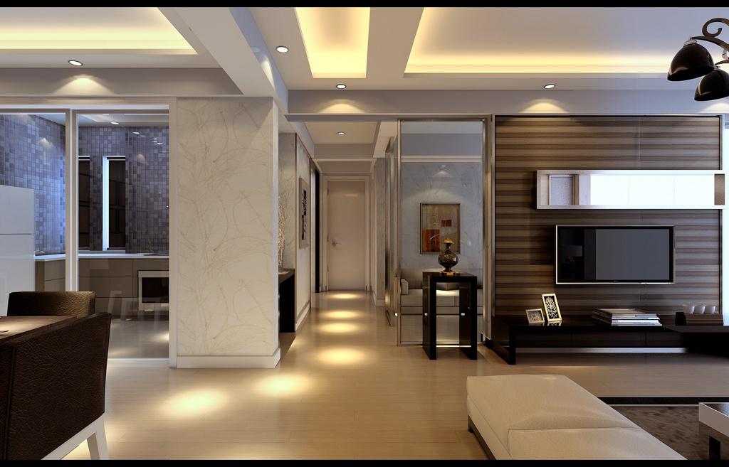 简约 三居 白领 收纳 小资 玄关图片来自武汉实创装饰在现代时尚的128平米水岸星城三居的分享