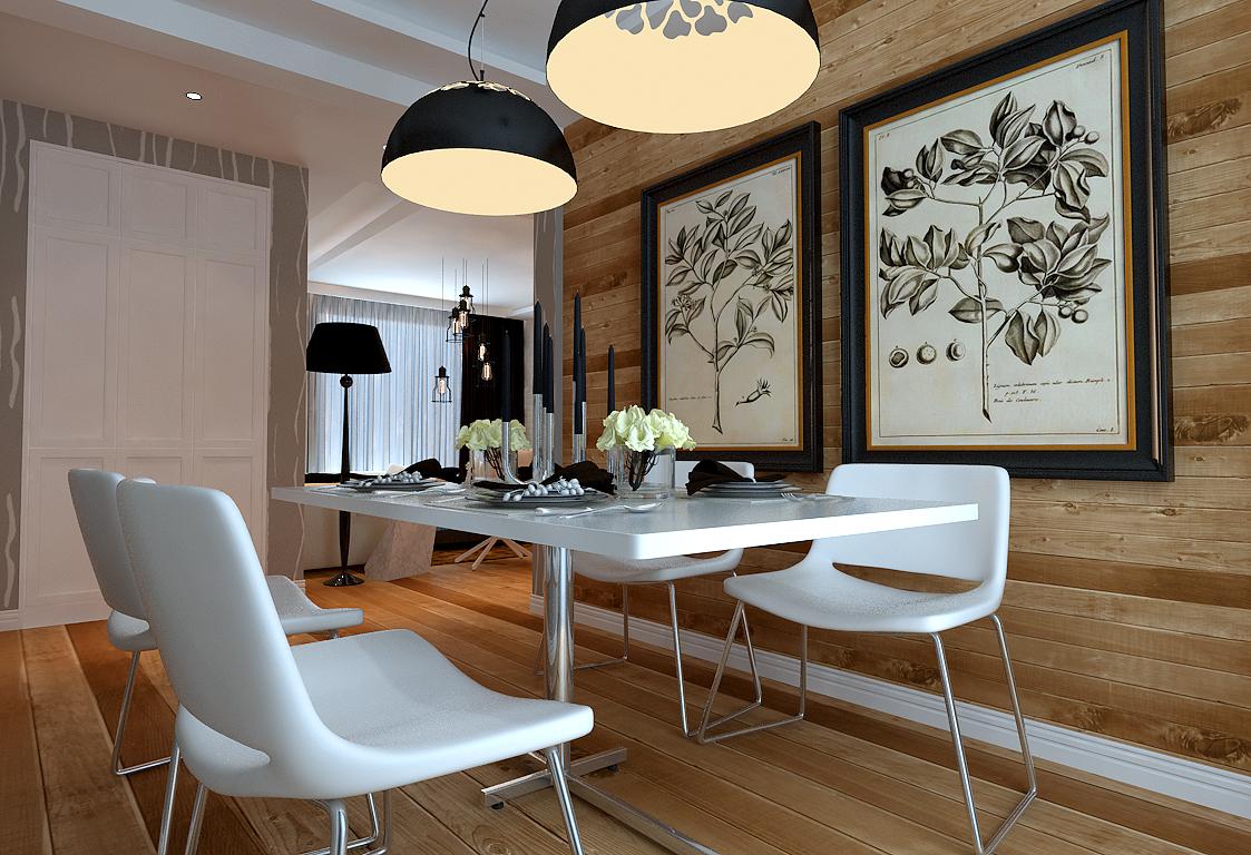 餐厅图片来自潍坊万泰装饰在温馨小婚房 120平现代简约设计的分享