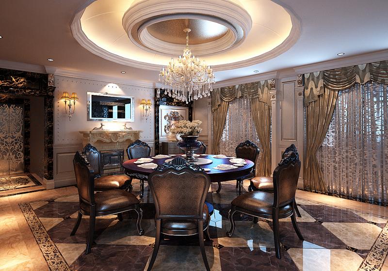 餐厅图片来自潍坊万泰装饰在新古典的奢华享受 360平独栋别墅的分享