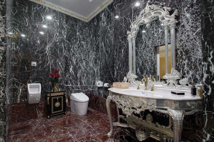 欧式 别墅 复式 收纳 高雅 卫生间图片来自武汉实创装饰在220平米简欧装修,展现品质生活的分享
