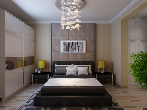 欧式 别墅 80后 白领 卧室图片来自沈阳林凤装饰装修公司在远洋岦宫236㎡现代欧式的分享