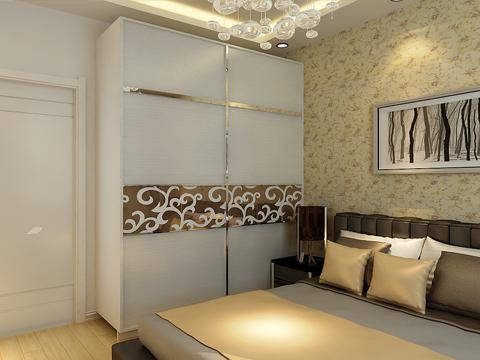 简约 二居 白领 80后 小资 卧室图片来自沈阳林凤装饰装修公司在中海明珠91㎡现代简约的分享