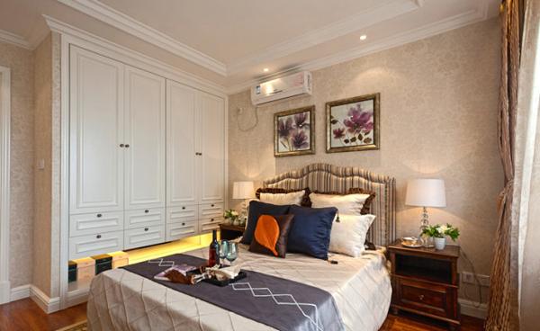 卧室图片来自潍坊万泰装饰在120平售楼样板实景的分享