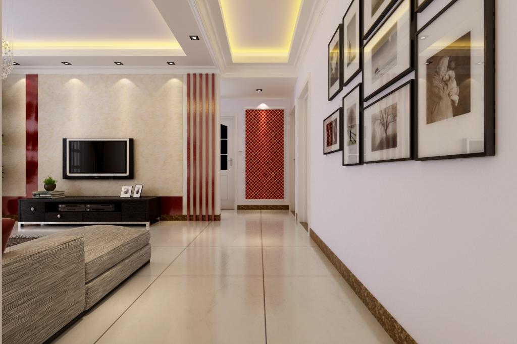 简约 保利百合 装修效果图 客厅设计 玄关图片来自曹素雅美巢装饰在保利百合装修108平方的分享