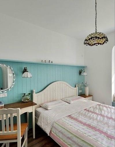 地中海 三居 白领 收纳 80后 卧室图片来自武汉实创装饰在海归小青年情迷地中海的分享