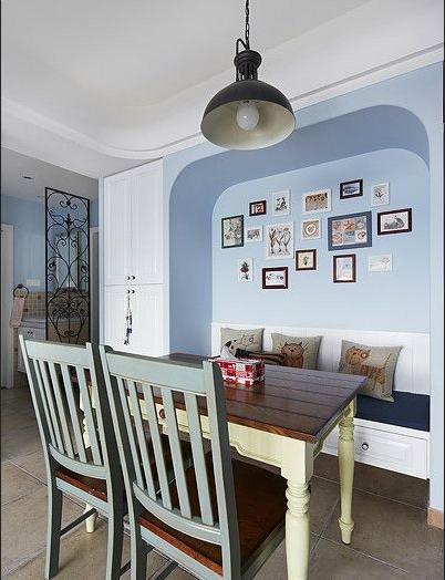 地中海 三居 白领 收纳 80后 餐厅图片来自武汉实创装饰在海归小青年情迷地中海的分享