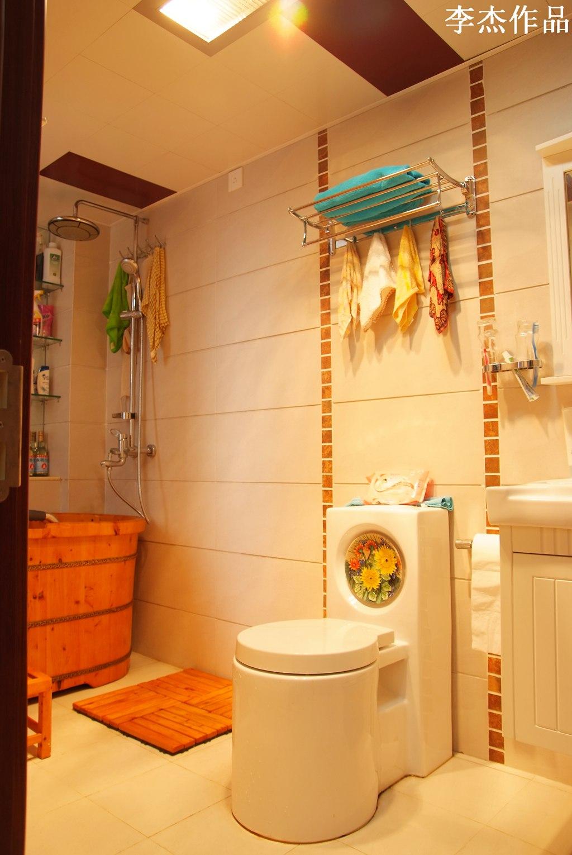 简约 混搭 三居 白领 收纳 小资 卫生间图片来自武汉实创装饰在大胆的突破,大两居时尚混搭风的分享