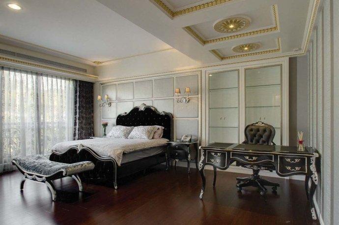 欧式 别墅 复式 收纳 高雅 卧室图片来自武汉实创装饰在220平米简欧装修,展现品质生活的分享