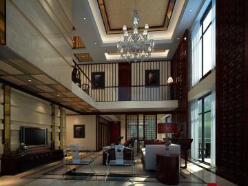 卓越维港现代中式别墅设计
