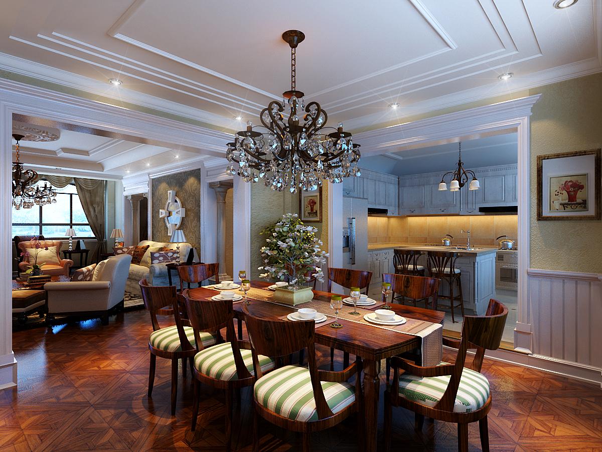 餐厅图片来自潍坊万泰装饰在安丘家族自建别墅的分享