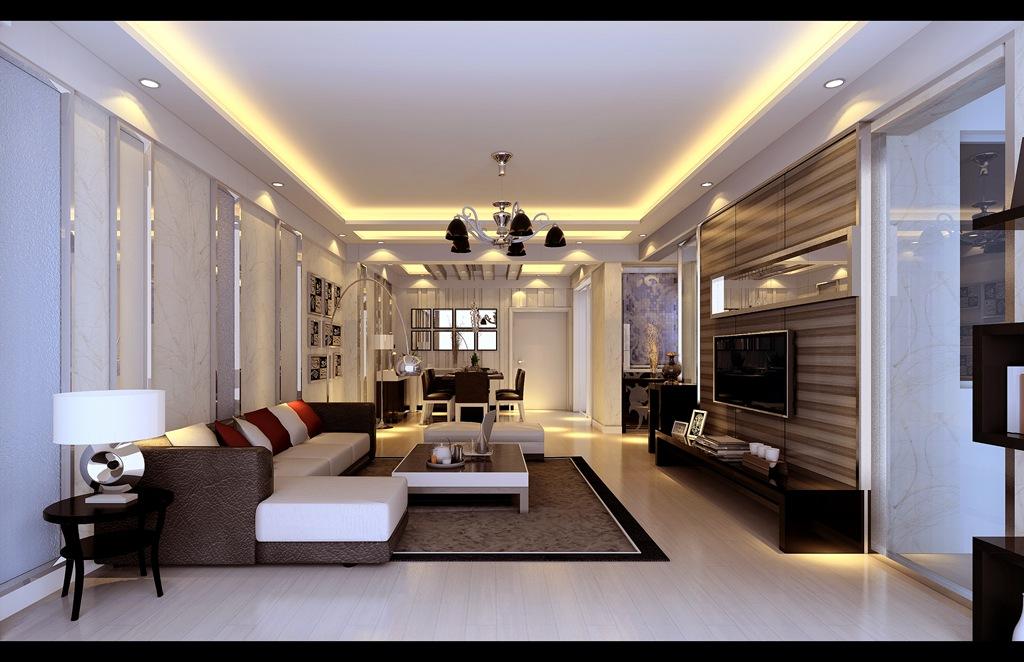 简约 三居 白领 收纳 小资 客厅图片来自武汉实创装饰在现代时尚的128平米水岸星城三居的分享