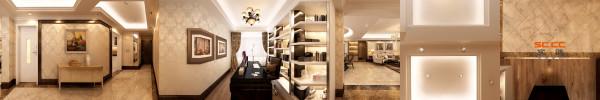 南城都汇138平米欧式风格书房装修设计