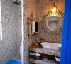 马赛克的墙砖,干湿分区,这样的卫生间看起来有木有感觉