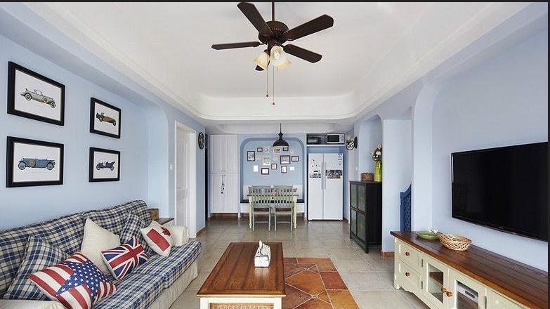 地中海 三居 白领 收纳 80后 客厅图片来自武汉实创装饰在海归小青年情迷地中海的分享