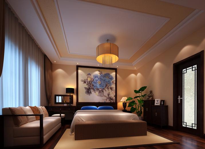 别墅 中式 徐曙光中式 实创装饰 卧室图片来自xushuguang1983在大气中式风格233平米独栋别墅的分享