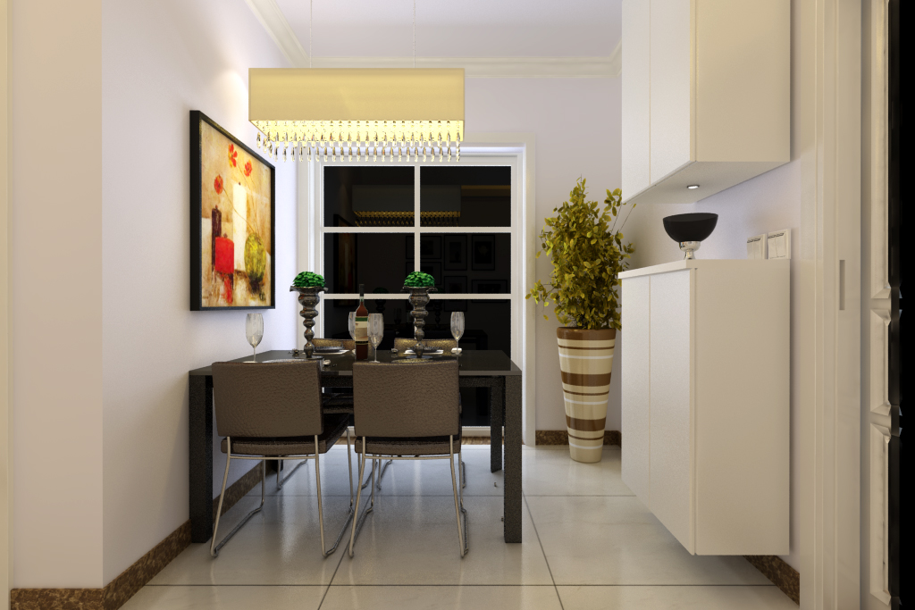 简约 保利百合 装修效果图 客厅设计 餐厅图片来自曹素雅美巢装饰在保利百合装修108平方的分享