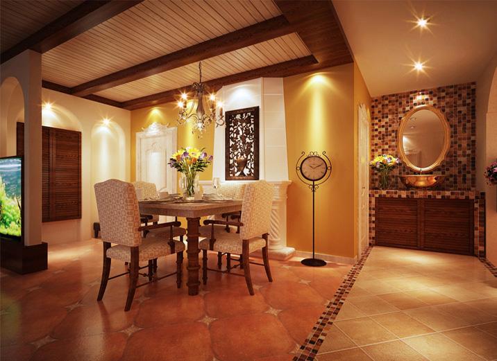 三居 混搭 简约 餐厅图片来自北京实创装饰在融泽嘉园108平米三居的分享