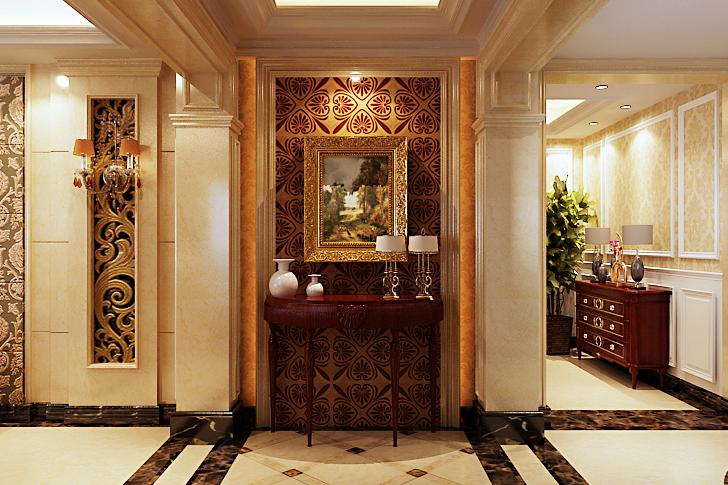 欧式 别墅 四居室 客厅图片来自石家庄业之峰装饰在天山新公爵240平米欧式风格装修的分享