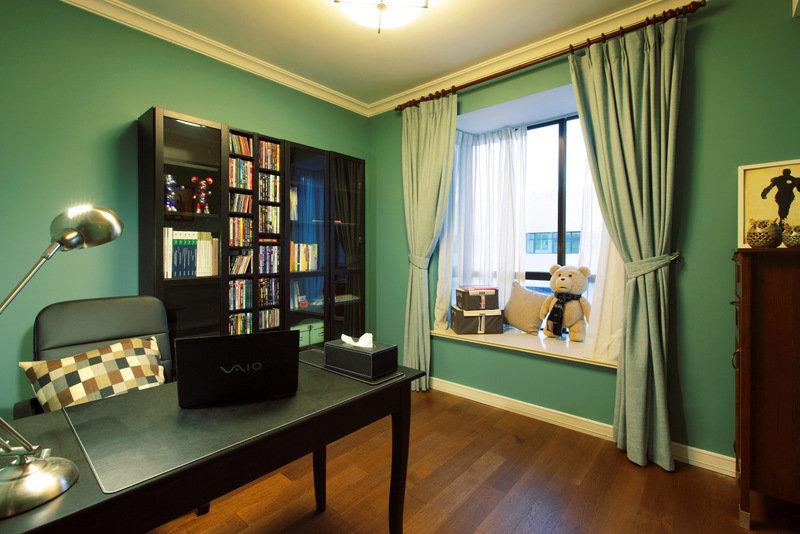 美式 皖匠装饰 家装 书房图片来自合肥皖匠装饰朱兴美在97平两房两厅温馨而有爱的家的分享