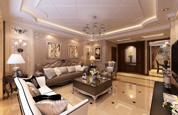 客厅图片来自潍坊万泰装饰在160平奢华美式的分享