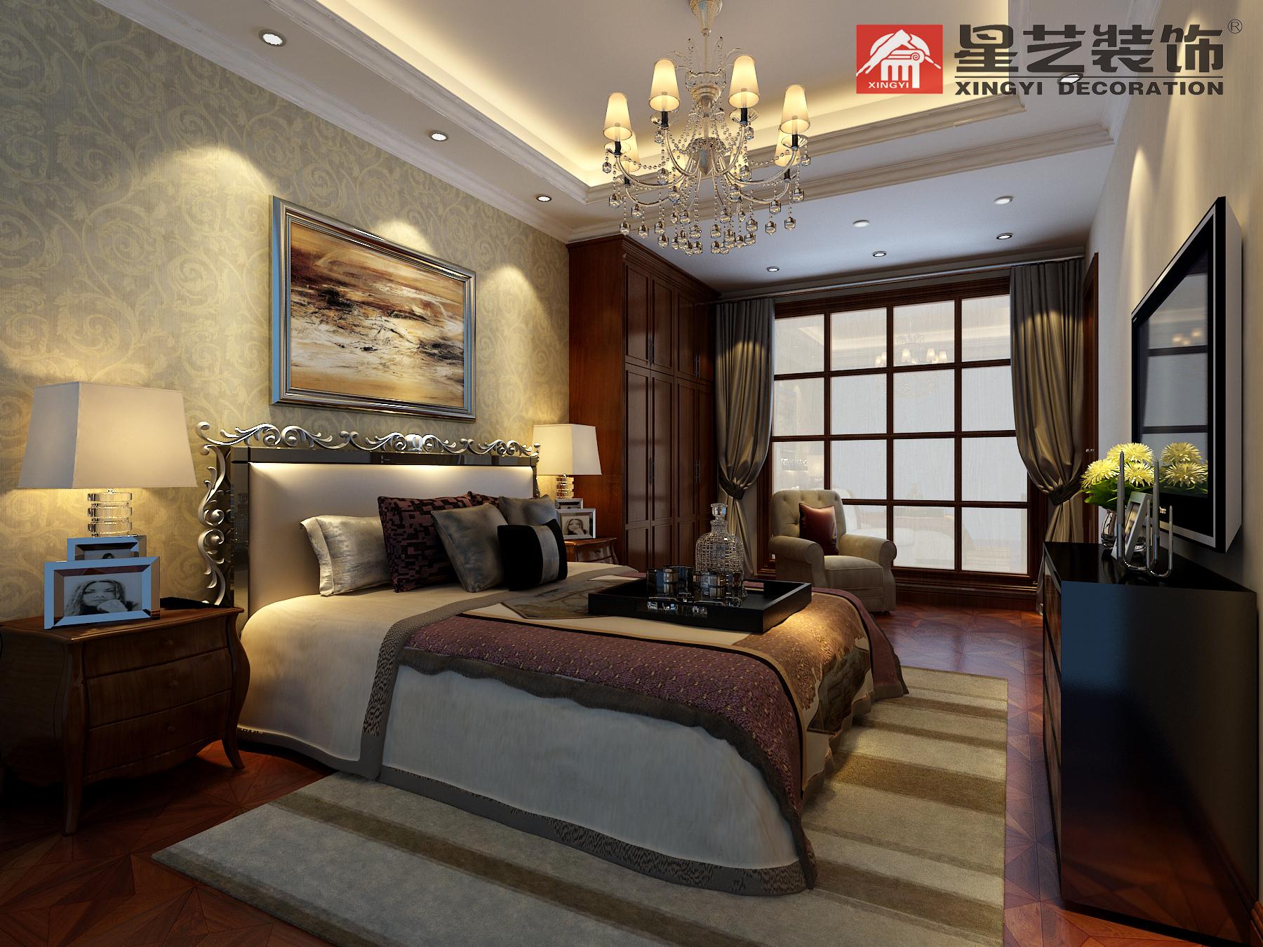 别墅 中式 星艺装饰 新古典 卧室图片来自星艺装饰在贵州在星艺装饰·别墅设计的分享