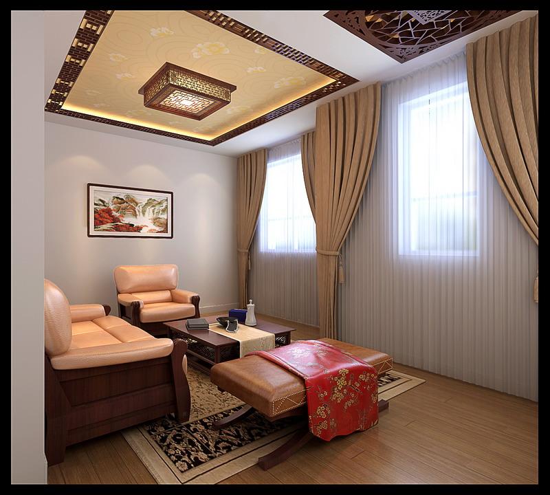 混搭 别墅 舒适 新中式 欧式 实创装饰 客厅图片来自武汉实创装饰在体验不一样生活,混搭的独栋别野的分享