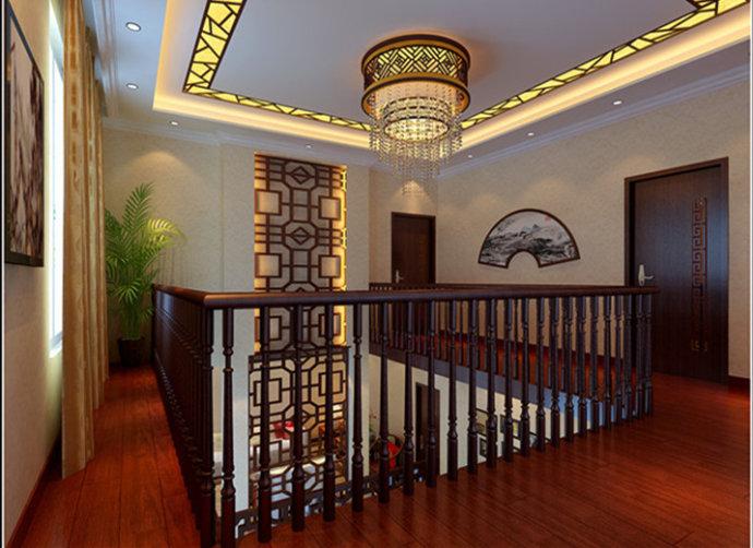 武汉实创 碧桂园别墅 中式别墅 别墅 小资 楼梯图片来自静夜思在碧桂园温馨大方现代中式家居别墅的分享